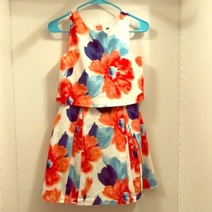 Other - White Janie and Jack Ruffle Dress Floral Pattern